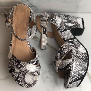 Shoes - Snake print sandals